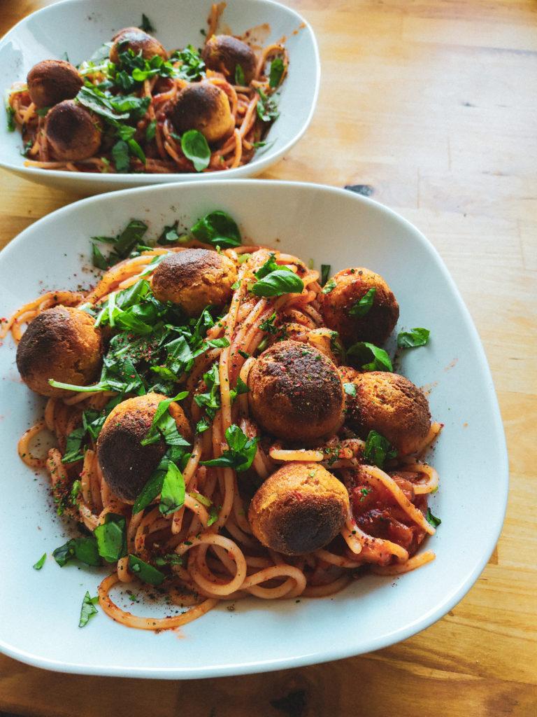 spaghetti weganskie