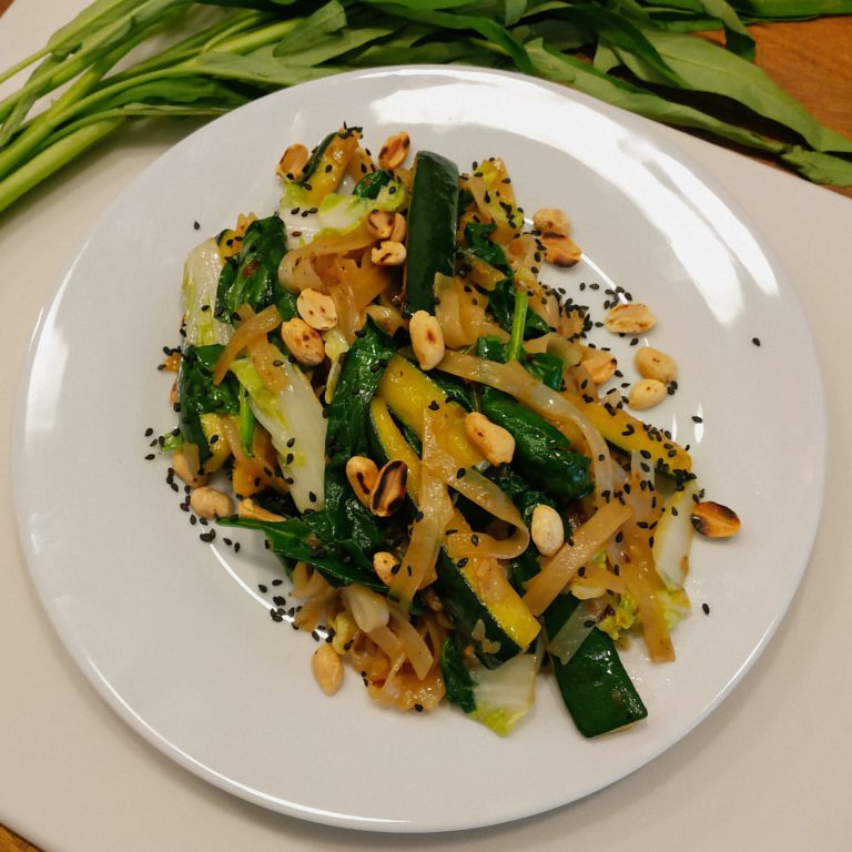 wegański makaron ryżowy