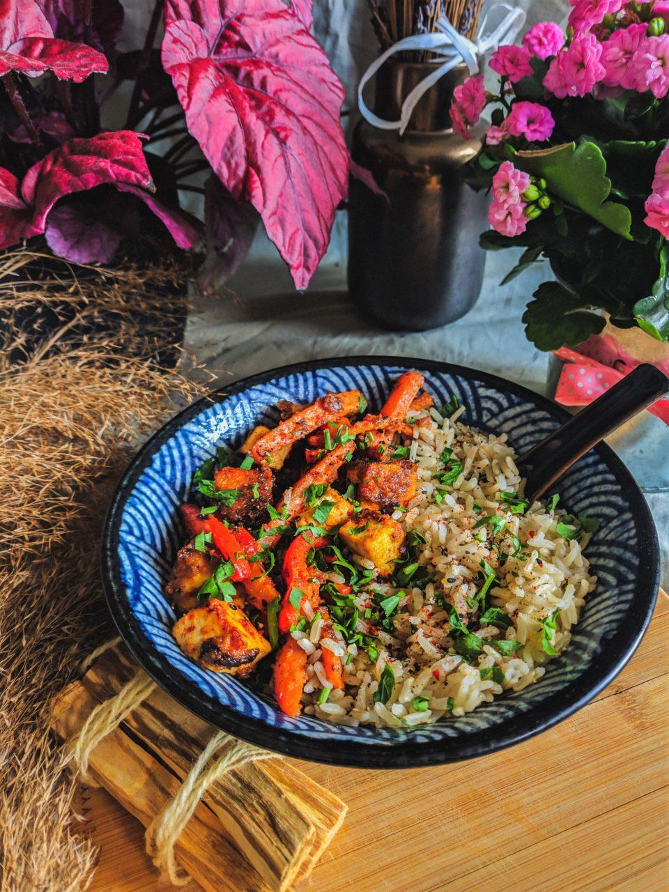 orzechowy ryż z tofu meet without meat