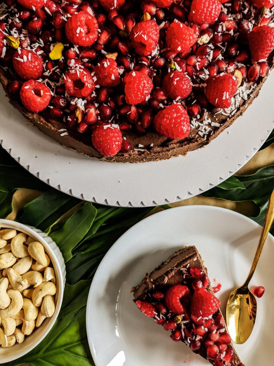 wegańska tarta czekoladowa