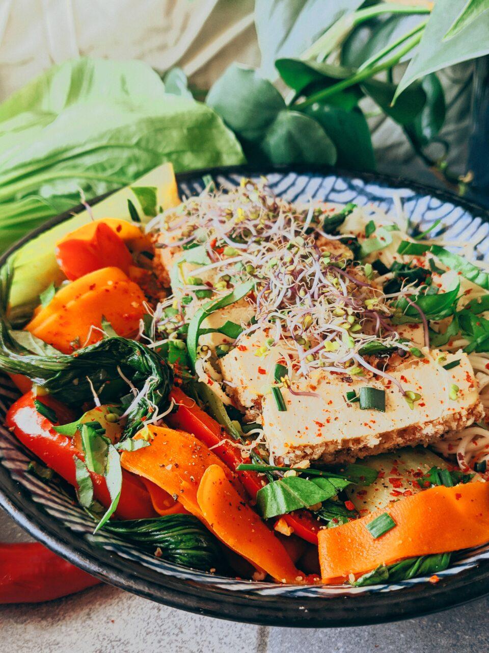 makaron tofu meet without meat