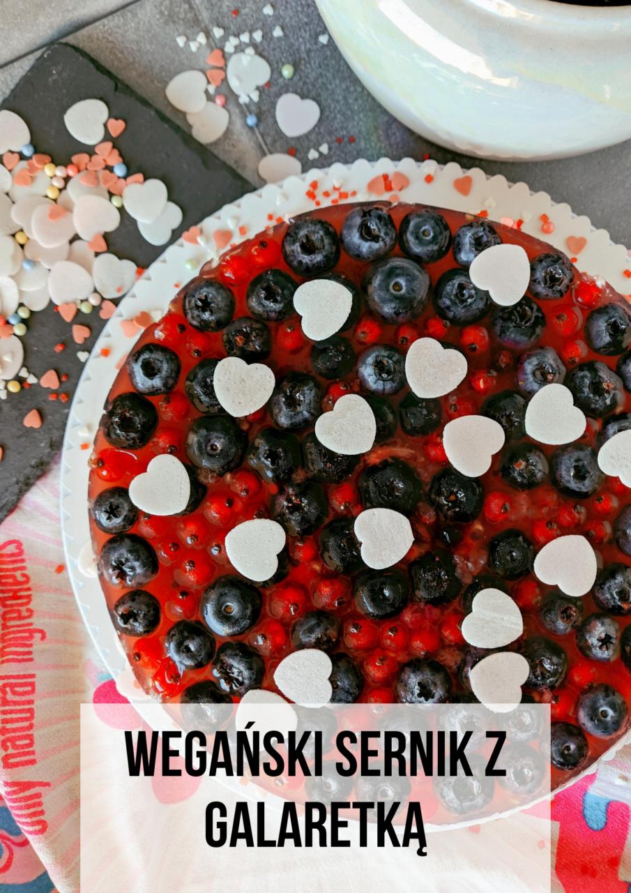 weganski sernik z galaretka meet without meat