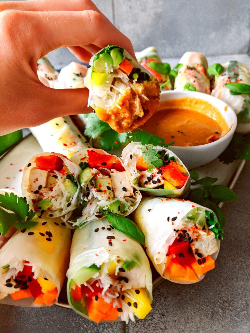 wegańskie rolki spring rolls meet without meat