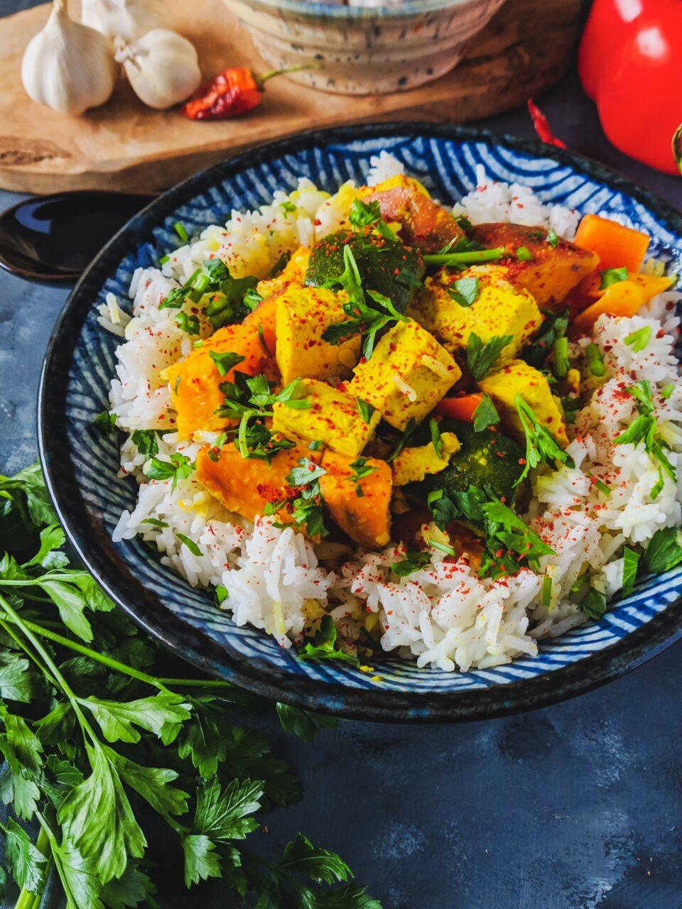 Szybkie wegańskie curry z tofu