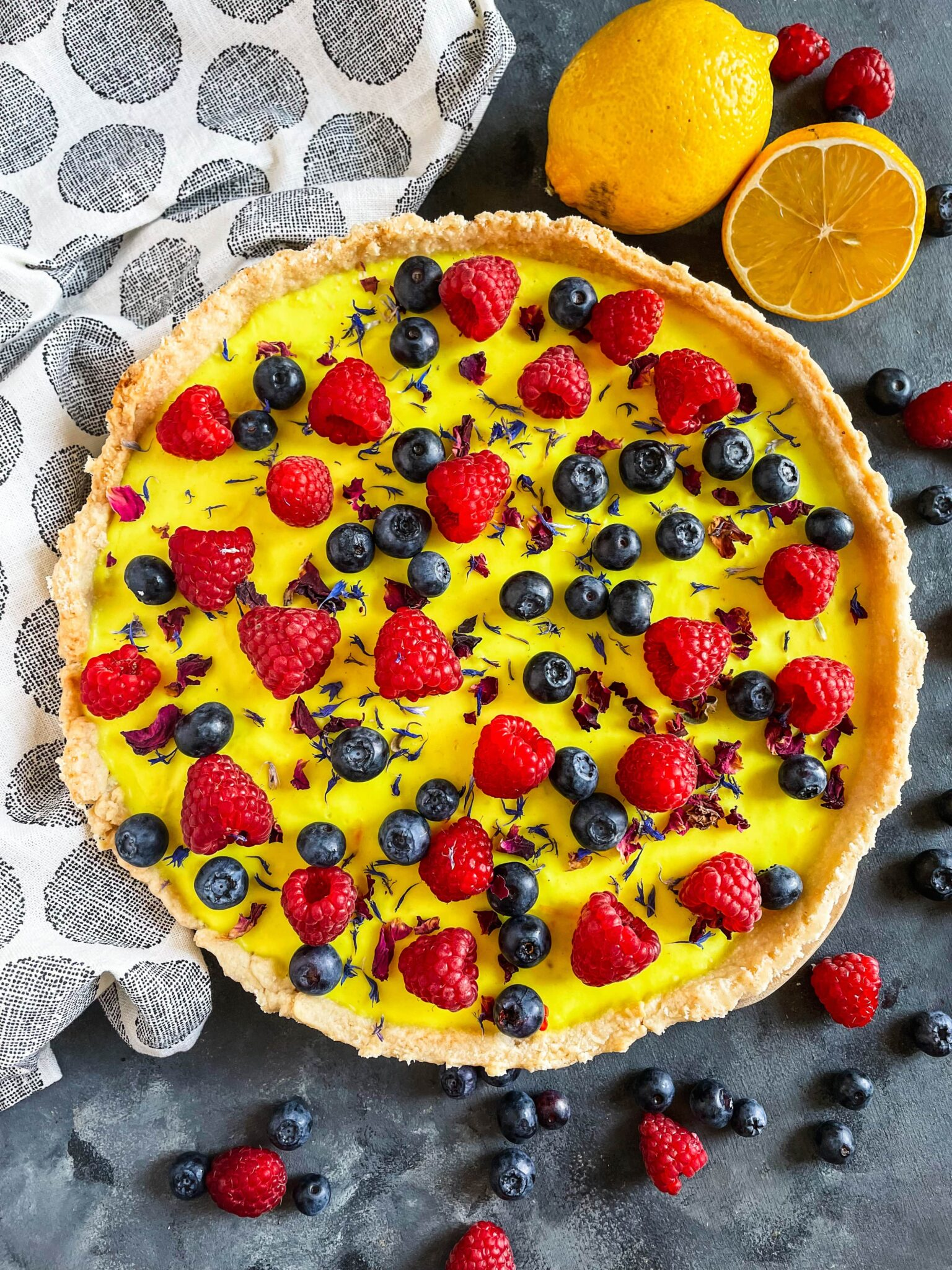wegańska tarta cytrynowa