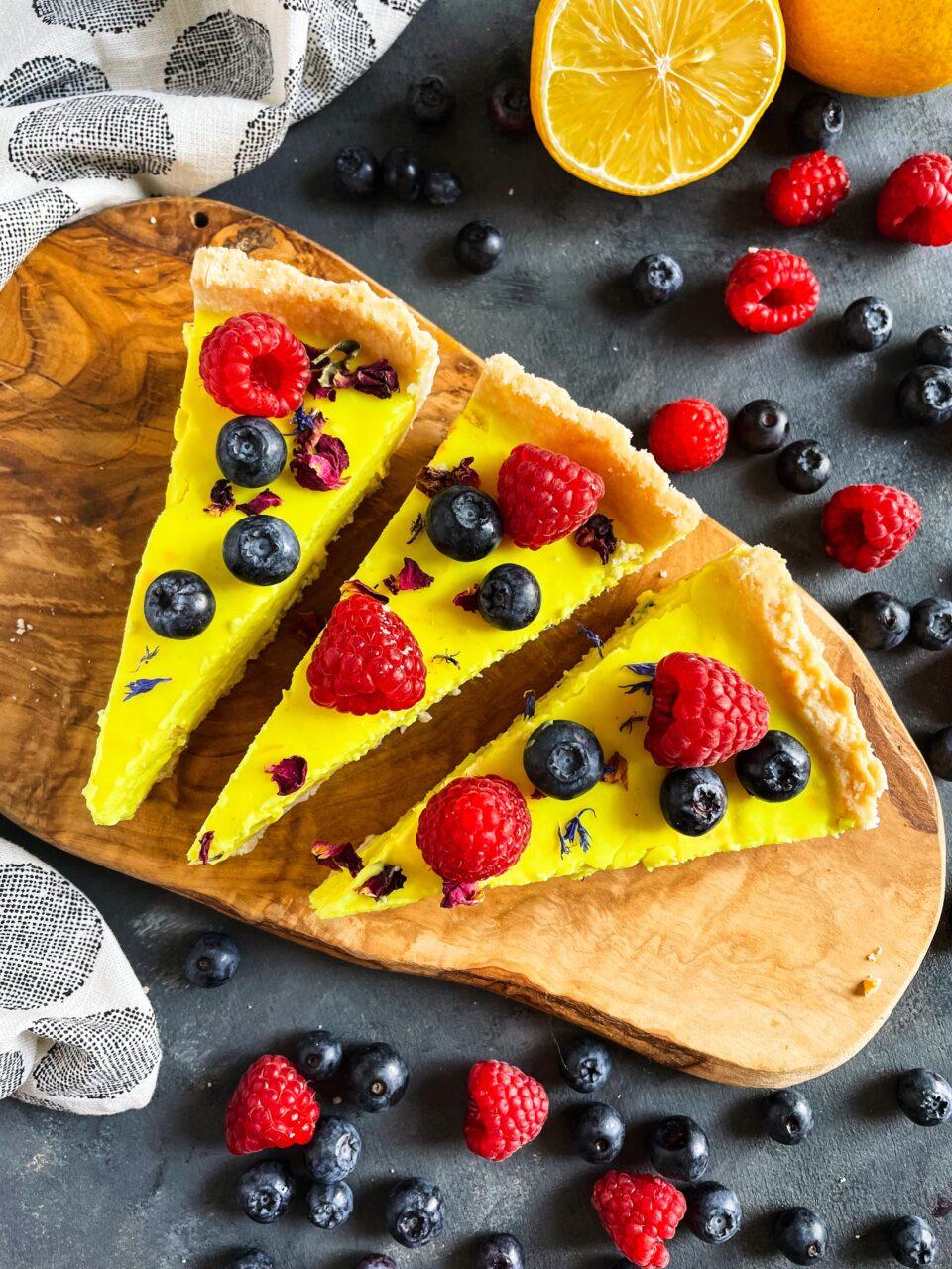 weganska tarta cytrynowa